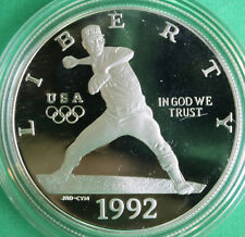 1992 Olympic Baseball Proof Silver Dollar Commemorative US Mint Coin ONLY