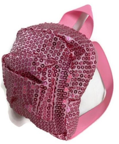 Pink Sequined Backpack for 18 inch American Girl Doll Clothes Accessories