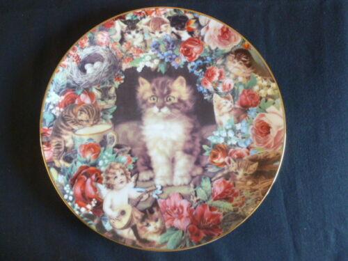"Danbury Mint 8/"" Collectors Plate Victorian Cat  Picture Purrfect Unused"
