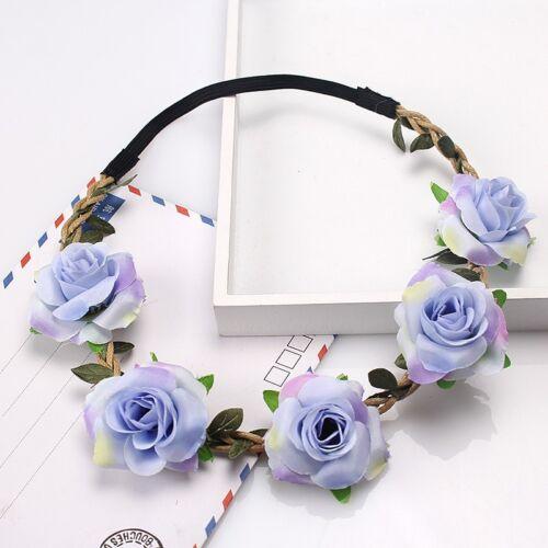 Wedding Bridesmaid Floral Flower Crown Festival Forehead Headband Hair Garlands