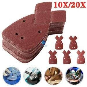 10X Mouse 40-800 Grit Sanding Sheets Orbital Detail  Black Decker Sandpaper Palm