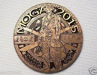 MOGA 2015 Event Coin - Antique Gold Finish - New Geocoin Unactivate