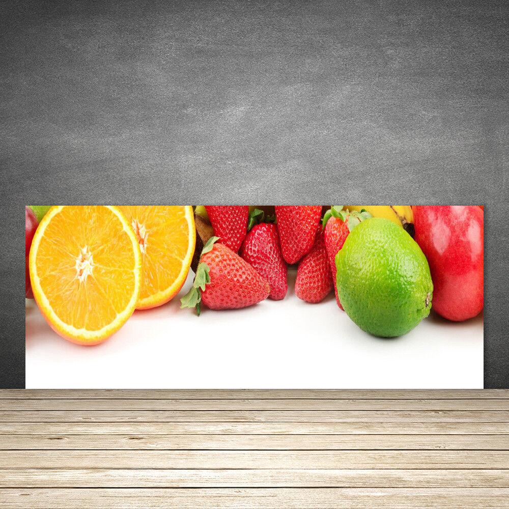 Crédence de cuisine en verre Panneau 125x50 Cuisine Fruits