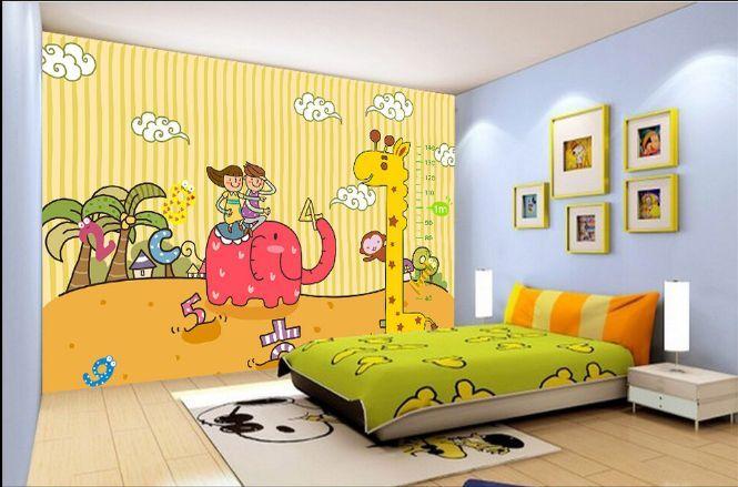 3D Karikatur Giraffe 3543 Fototapeten Wandbild Fototapete BildTapete Familie DE