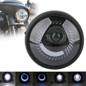 Moto-6-5-Pouce-Phare-de-LED-Clignotant-Lumiere-Ampoule-Headlight-Pour-Cafe-Racer