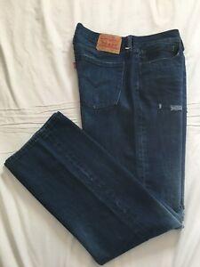 II<  LEVI'S 514  ~ Mens  STRAIGHT  Blue Jeans ~ Size 36 x 33 ~ EXCELLENT