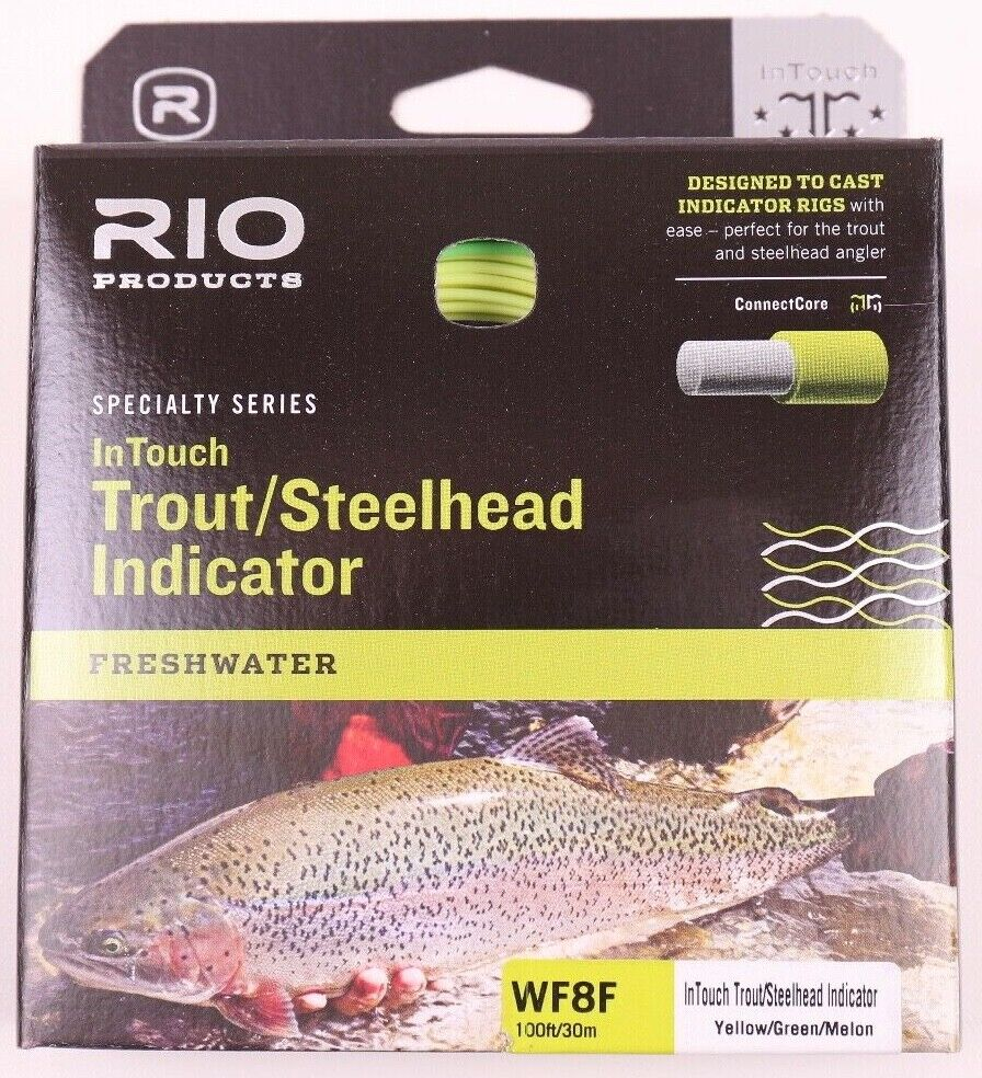 Rio InTouch Trout Steelhead Indicator WF8F Fly Line gratuito FAST SHIPPING 621180