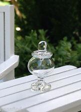 Miniature Dollhouse FAIRY GARDEN Accessories ~ TINY Glass Jar with Lid ~ NEW