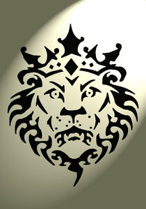 Shabby Chic Stencil Lion head Crown Mylar Vintage A4 ...  Shabby Chic Ste...