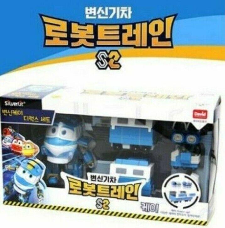 Sale DAVIDTOY Kids Robots Train S2 Transformer Robot KAY Deluxe Play Set_ogeo