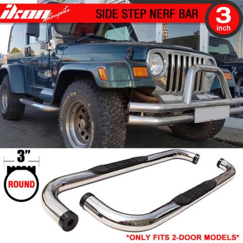 ispacegoa.com Fits 97-06 Jeep Wrangler TJ YJ 3 inch Round S/S Side ...