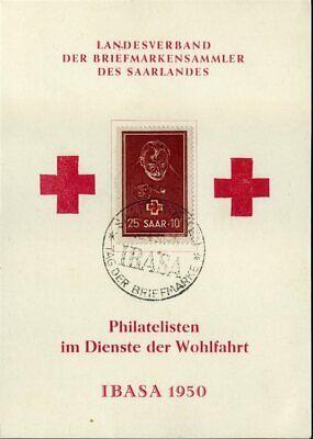 292 Auf Fdc Rotes Kreuz Saarland Nr Gut 414038 Mi 140,- Angenehm Im Nachgeschmack