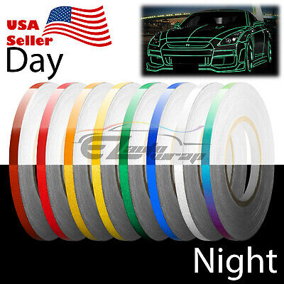 Rainbow Reflective Tape Safety Self Adhesive Striping Sticker Decal 150FT  Roll 1CM