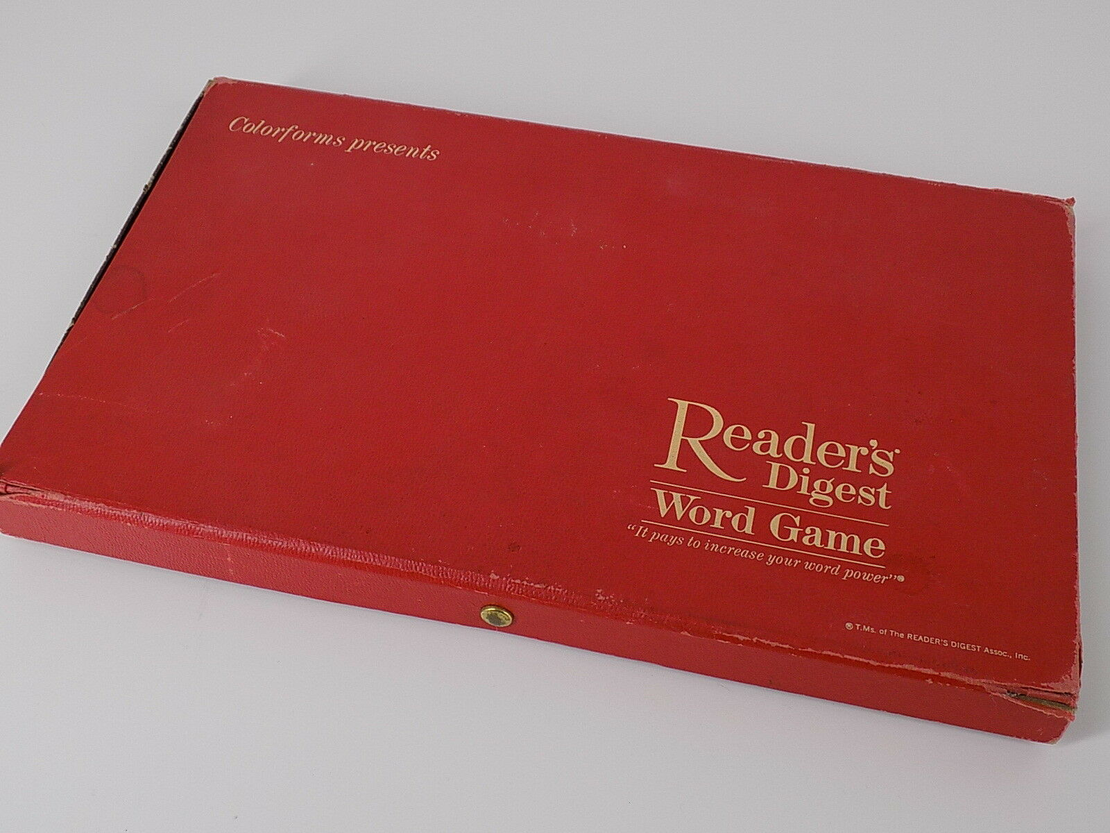 Vintage 1963 colorforms Readers Digest It Pays to Increase Word Power Word Game