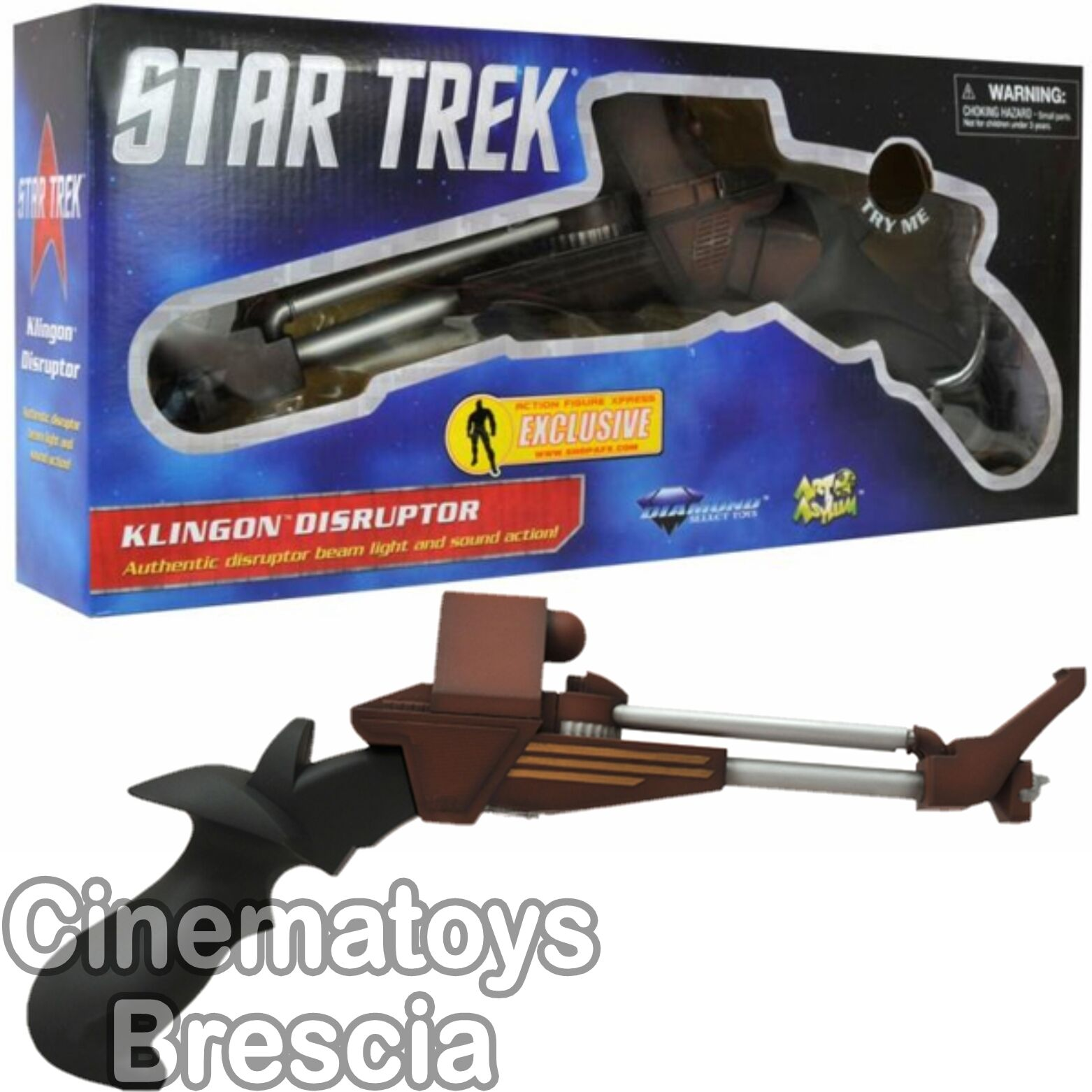 AFX Exclusive Star Trek 3 Search for Spock Commander Kruge Klingon Disruptor 1 1