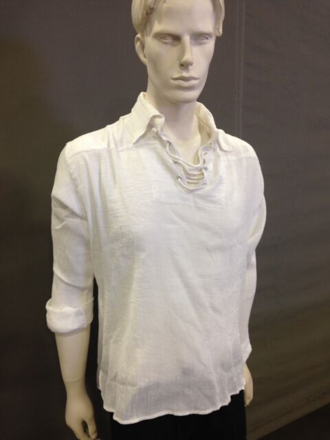 BNWT Pirate shirt,with Collar ,white color,l/s..Size M