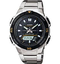 Casio Solar Analog/Digital Watch, 100 Meter, 5 Alarms, AQS800WD-1EV