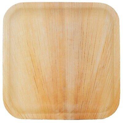 50x Palmblatt Teller rechteckig 15 x 23 cm Bio Einweg Eco-Geschirr kompostierbar