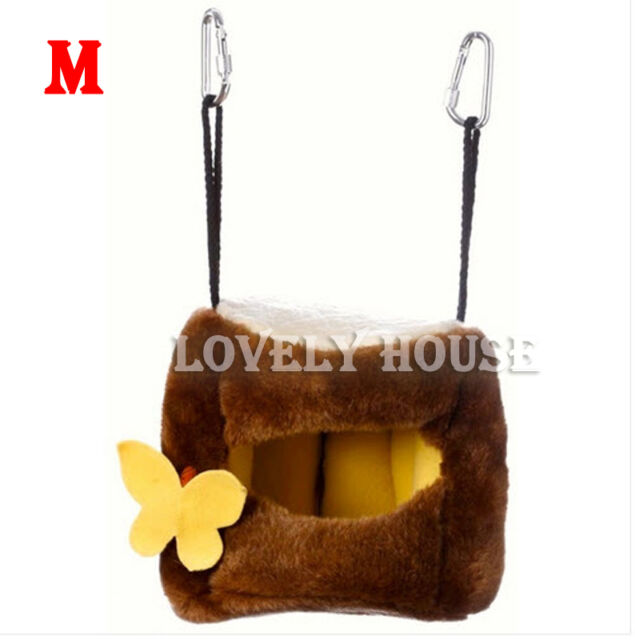 Tree Stool Hammock for Parrot/Rabbit/Guinea Pig/Ferret Hanging Bed Toy House- M