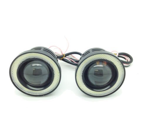Fits Citroen SAXO JUMPER XSARA Projector Cob LED Fog DRL Spot Lights Angel Eyes