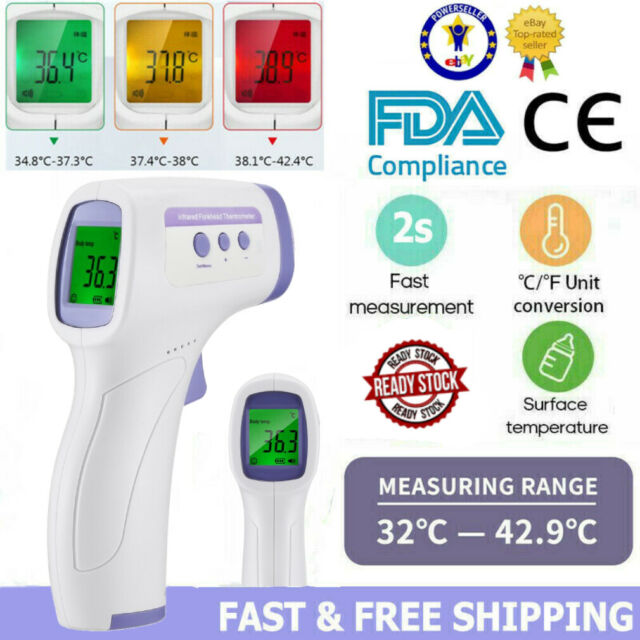 Medical Non-Contact IR Infrared Digital Thermometer Body Forehead Gun Baby Adult
