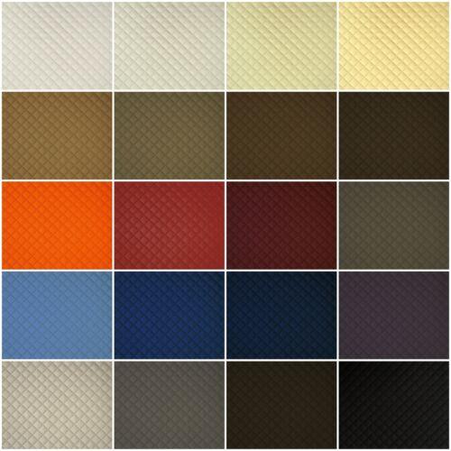 Cuir synthétique cuir pvc voiture Coussin tissu gesteppt 2x2cm losange en 20 couleurs