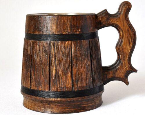 Wooden Beer mug 0,59 l groomsmen gift natural wood beer tankard groom 20oz