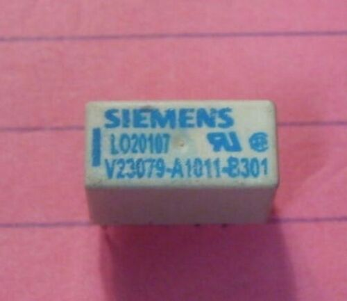 Siemens V23079-A1001-B301 DPDT 250VA 30VDC 2A Relay 4.5V coil Lots of 2 NEW