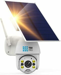 TBI Pro Solar Security Camera Outdoor Wireless PTZ – WiFi Home Security Camera