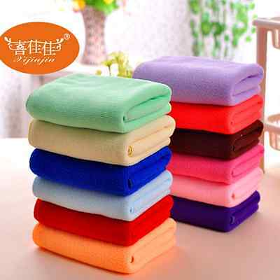 Absorbent Microfiber Towels Soft Car Wash Polish Drying Cleaning Cloth 30*70cm