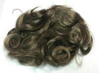 Brown/gray Mix Pull-through Synthetic Curly Wiglet 5.5 Hair, 4.5 X 6.5 Base