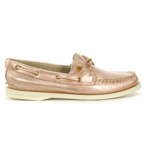 Sperry Top-Sider Women's A/O Vida Rose Gold Boat Shoes STS83010 NEW!