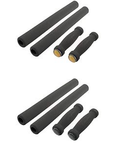 4-Piece-Black-Bicycle-Handlebar-Foam-Grip-Set-Beach-Cruiser-Bike-Handle-Bar-Grip