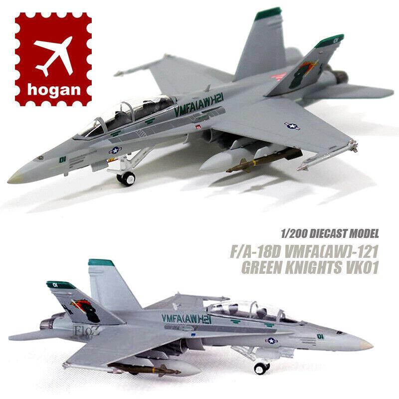 HOGAN F  A -18D VMFA (AW)-121 Gröna riddare VK01 1  200 tärningskast -flygagagplan för modellllerlflygagagplan