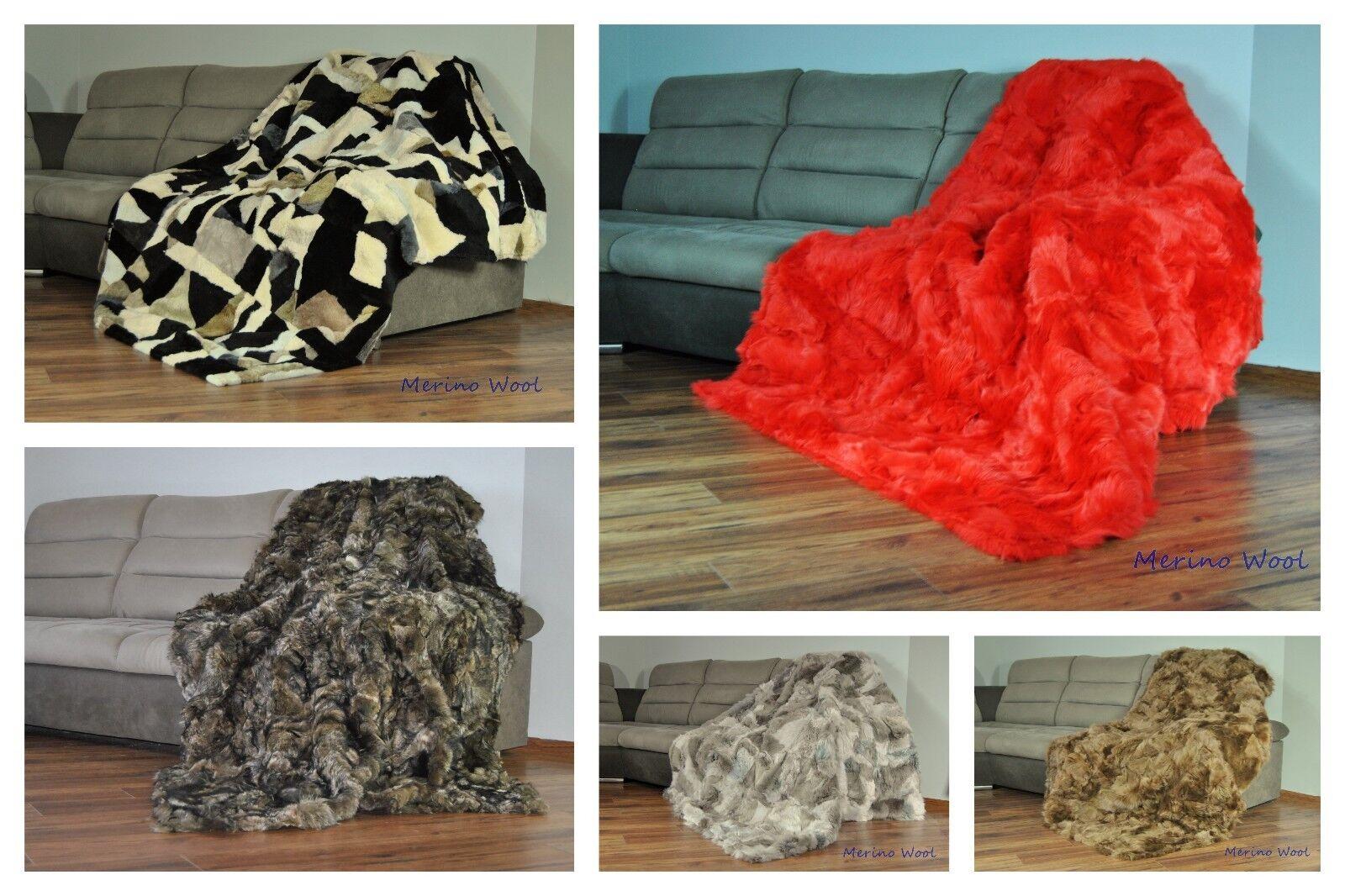 SALE Blanket   Throw TOSCANA 100% Wool Shearling Sheepskin Rug PERFECT FOR GIFT