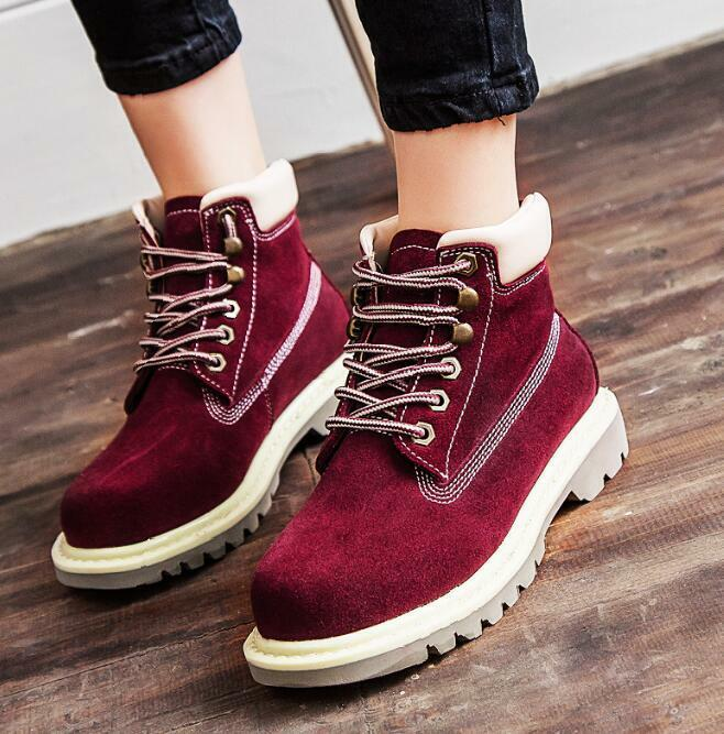 Womens men Platform High Top Ankle Boots Lace Up Driving Retro shoes new Winter