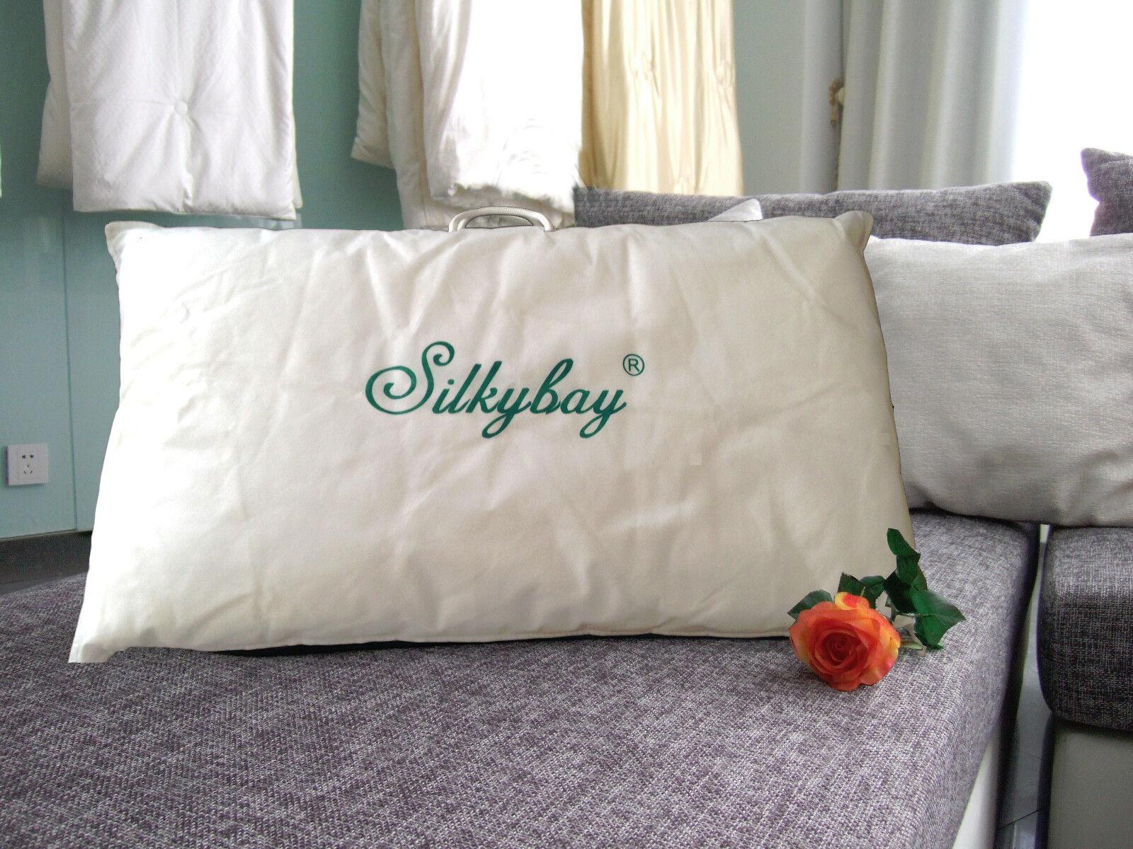 100% A grade Mulberry Silk Filled Pillow - King Size