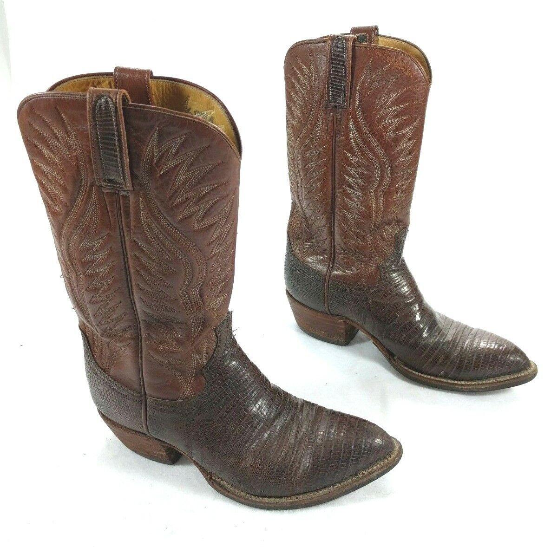 Dan Post 6834 botas de vaquero occidental marrón de piel de lagarto 9 D