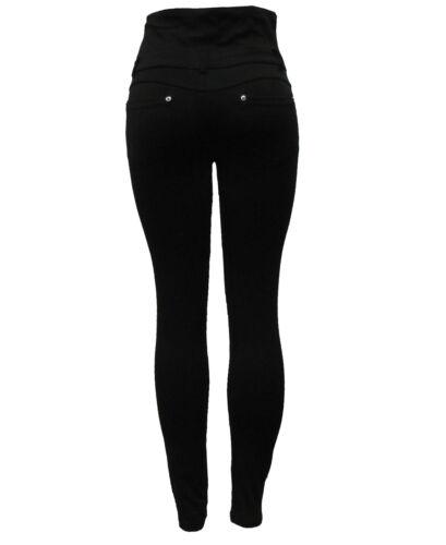 New Ladies womens black fashion stretch skinny high waist jegging jeans leggings