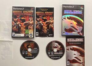 Playstation-2-Mortal-Kombat-Armageddon-amp-Shaolin-Monks-Blockbuster-Display-Case