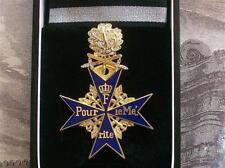 1WK Preussen Pour Le Merite Blauer Max Goldenes Eichenlaub Schwerter Brillanten
