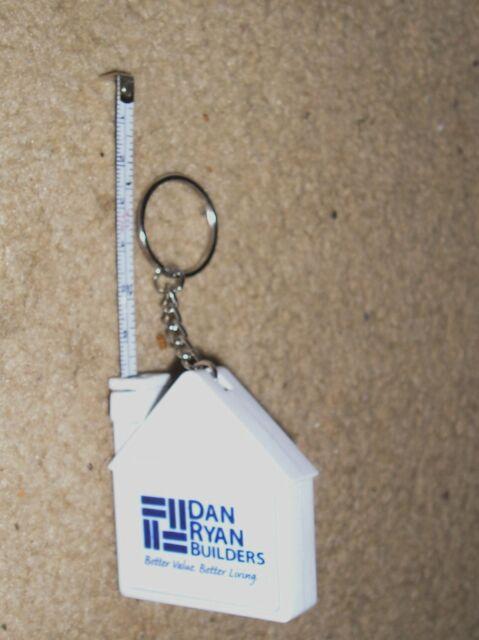 Miniature House Dan Ryan Builders Advertising Tape Measure Key Ring Chain 3 FT