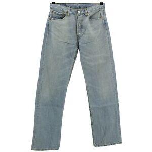 4515-LEVIS-Herren-Jeans-Hose-501-0063-Denim-ohne-Stretch-blue-stone-blau-31-32