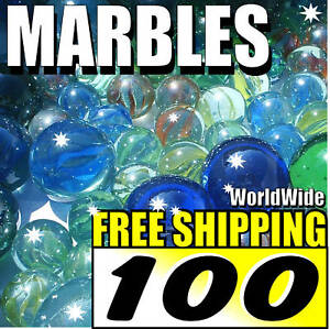100-New-Lot-Colourful-Marbles-Toy-Game-Present-FREE-S-H