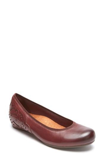 Cobb Hill para para para mujer Sharleen bomba Merlot Zapato de cuero US 8 medio 3c06c7
