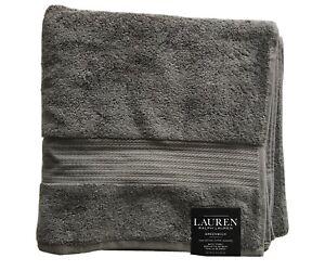 Ralph-Lauren-Pebble-Gray-Greenwich-Bath-Towels-Individual-30-034-x-56-034-100-Cotton