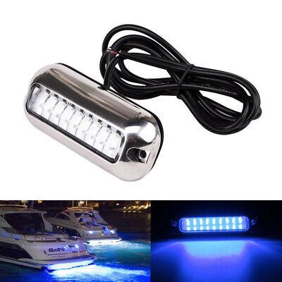 12V 50W Marine LED Bootsbeleuchtung Unterwasser Beleuchtung Hecklicht Lampe Blau