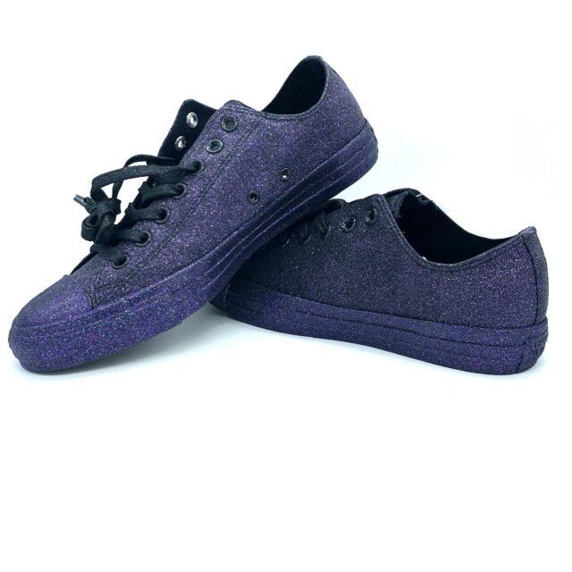 buy \u003e black and purple glitter converse