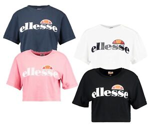 ellesse-Ladies-Alberta-Short-Crop-Top-Casual-Sporty-Gym-Run-T-Shirt-Women-s-Tee