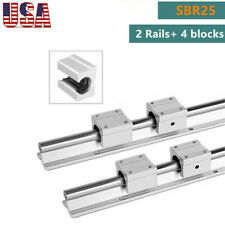 Sbr25 Linear Slide Rail Guide Shaft Rod 400 1500mm4pcs Sbr25 Bearing Block Cnc
